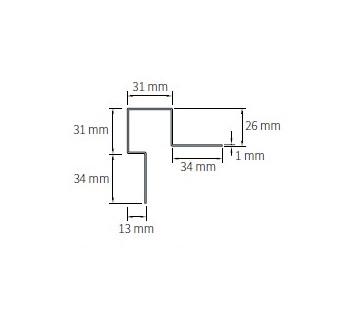 Cedral välisnurk asümmetriline